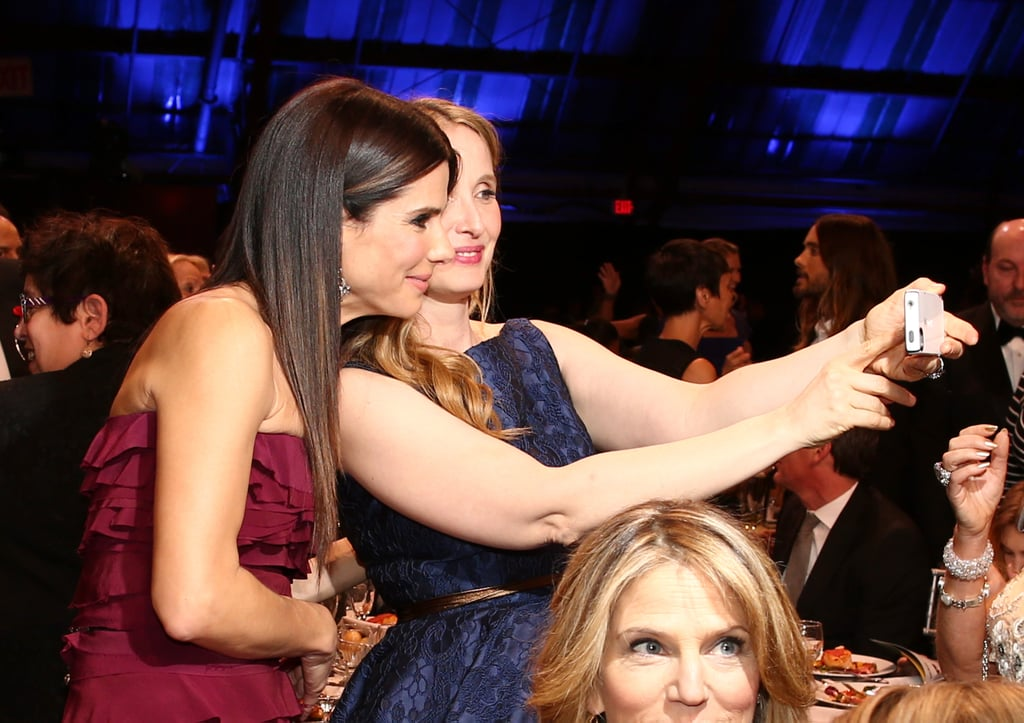 Sandra Bullock and Julie Delpy took a selfie during the Critics' Choice Awards.