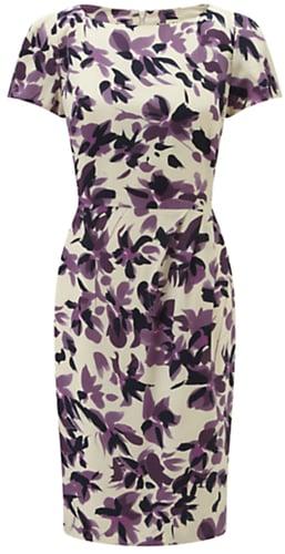 Viyella Watercolour Floral Dress, Amethyst
