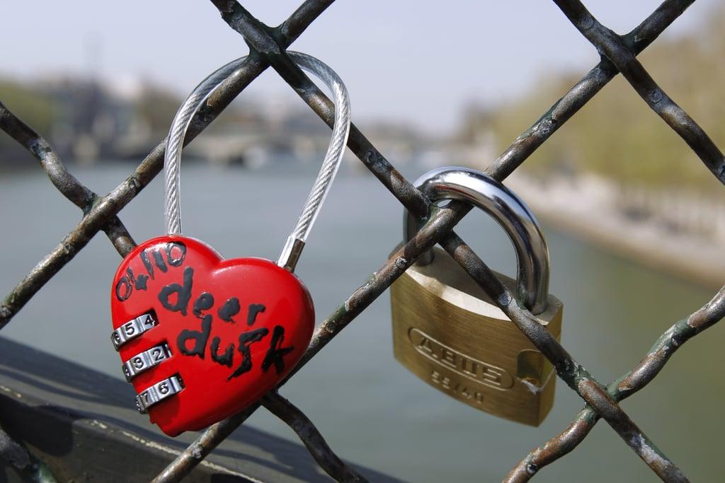 Locks of love in Paris.