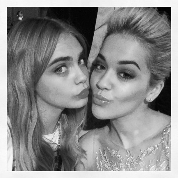 Cara Delevingne and Rita Ora stuck close together at the Glamour Women of the Year Awards in London. Source: Instagram user caradelevingne
