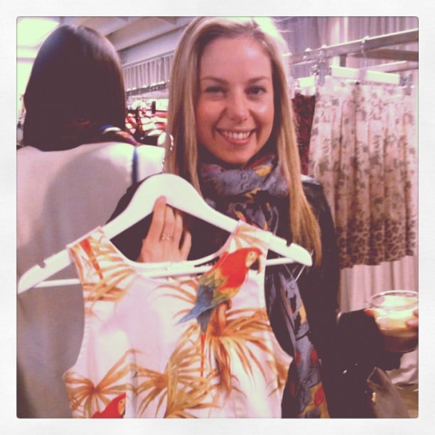 Ali fell hard for this parrot-print top in the C&M new collection.