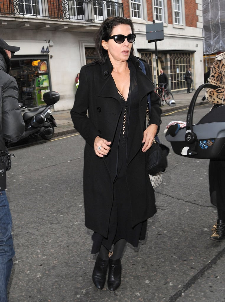 Kate's friend Sadie Frost arrived at the lunch party.