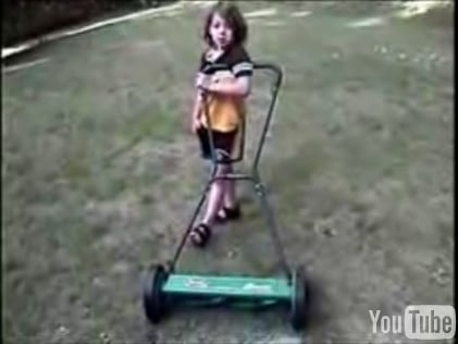 Fall Workout:  Use a Push Mower