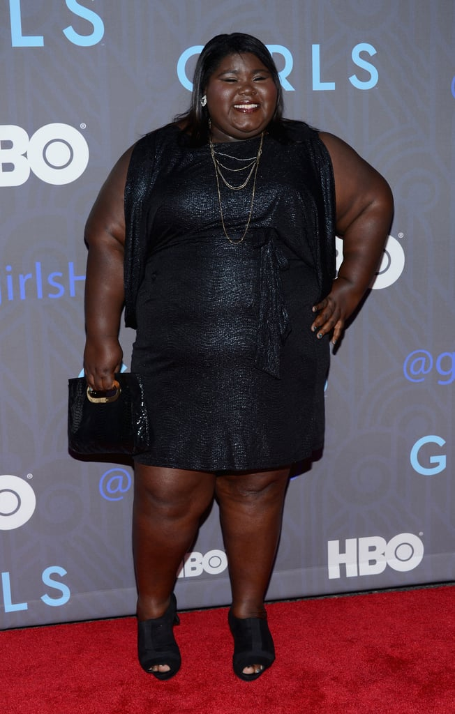 Gabourey Sidibe walked the red carpet.