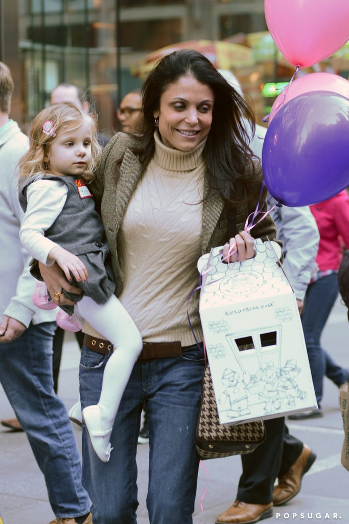 Bethenny Frankel and Bryn Hoppy stopped by Build-A-Bear in NYC on Friday for a birthday party.