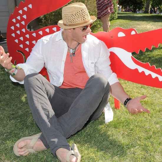 Kellan Lutz partied with Lacoste in 2011.