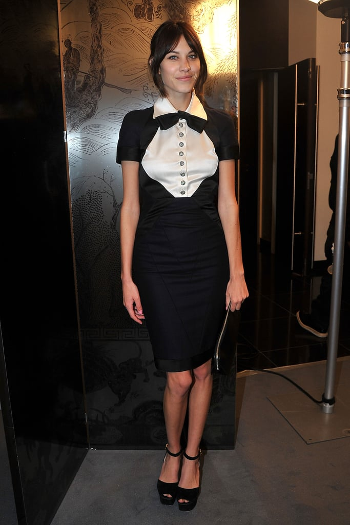 A Chanel tuxedo dress for the Haute Couture show in Paris.
