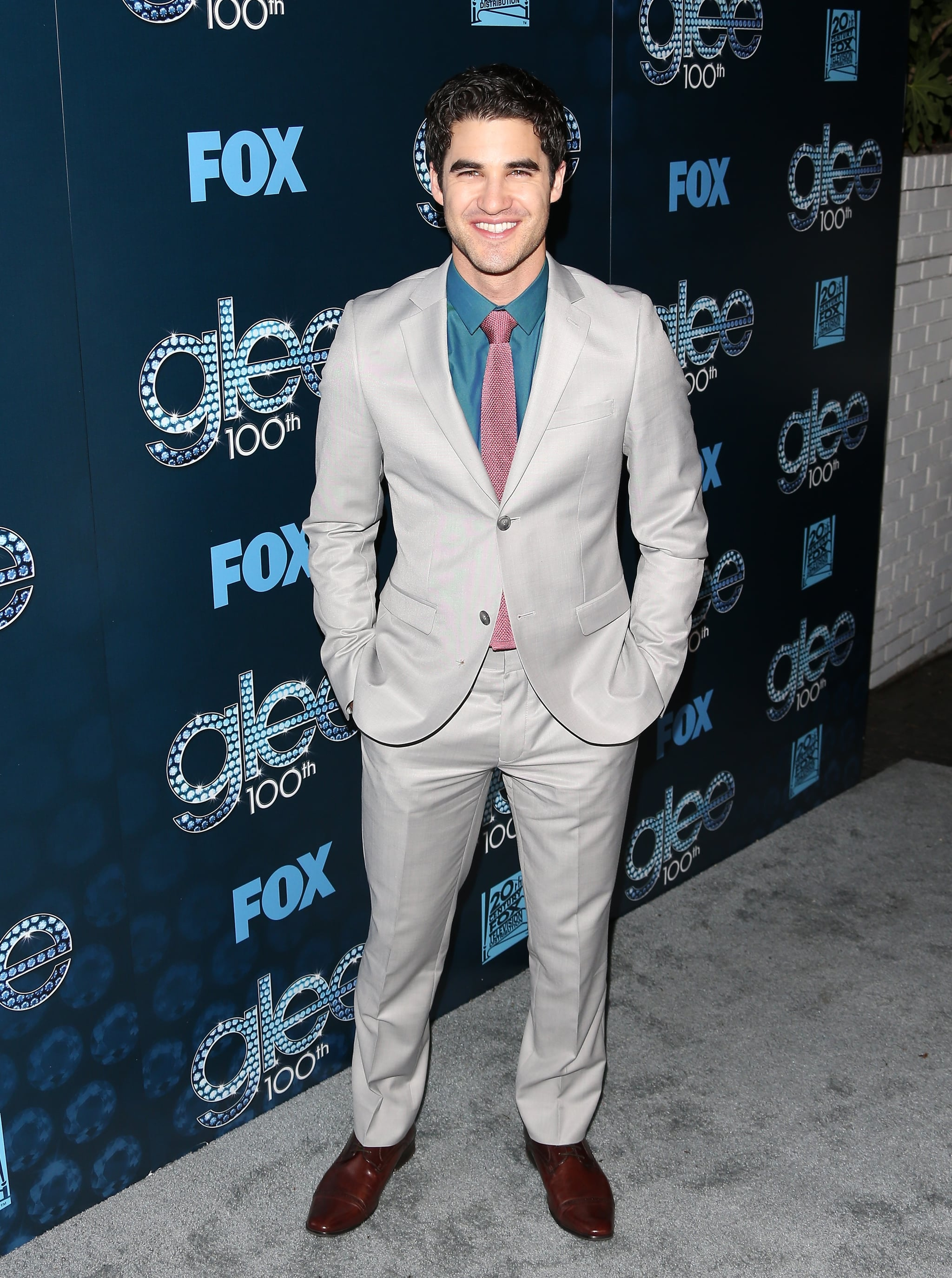 Darren Criss didn't go for a traditional color scheme.