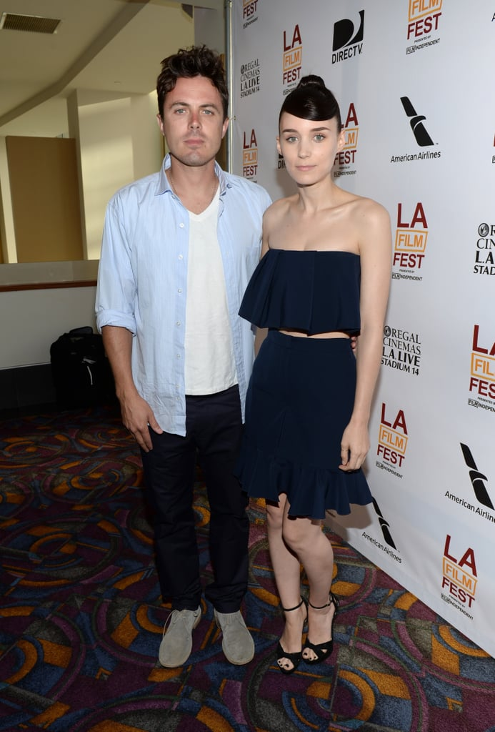 Casey Affleck and Rooney Mara paired up to spruik their new film, Ain't Them Bodies Saints at the Los Angeles Film Festival on June 15.