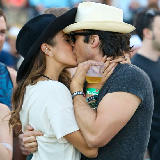 Ian Somerhalder and Nikki Reed Kiss at Coachella | Pictures