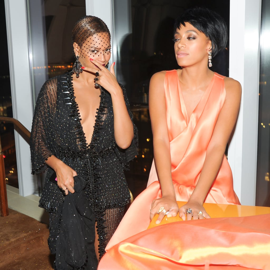 Beyoncé and her sister, Solange, got goofy inside the afterparty.