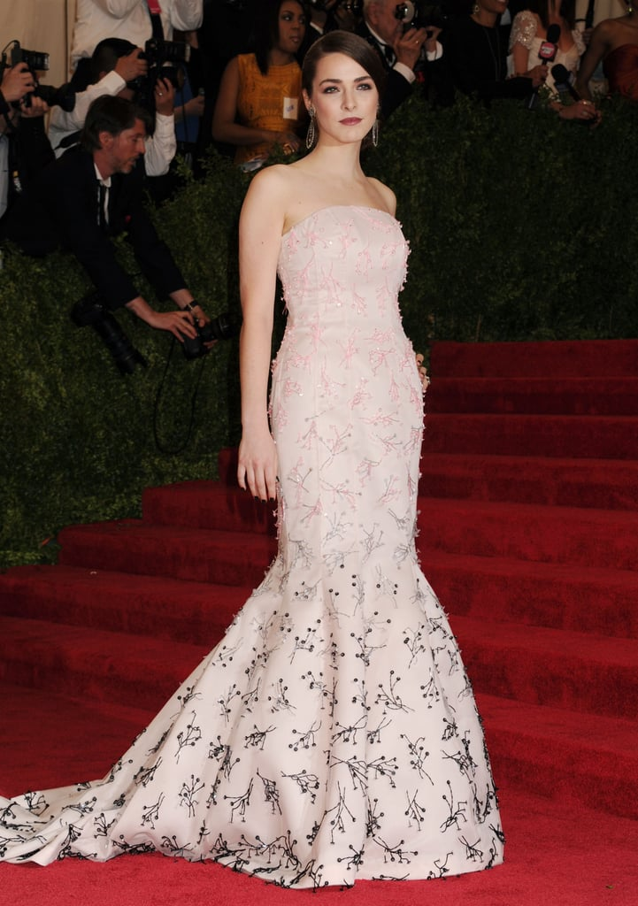 Bee Shaffer in Floral Dior Gown