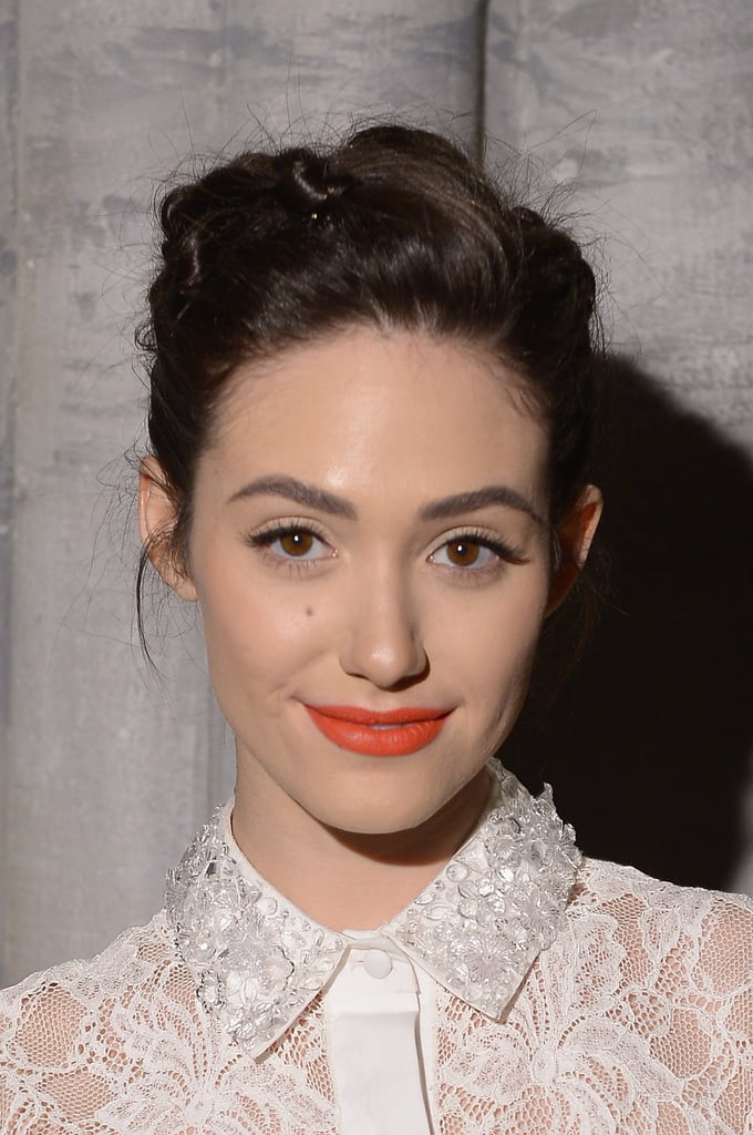 Emmy Rossum at Monique Lhuillier