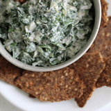 Healthy Spinach Dip and Gluten-Free Cracker Recipes