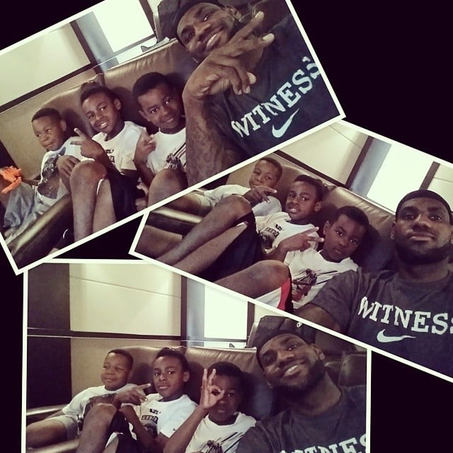 LeBron James played video games with his favorite boys.  Source: Instagram user kingjames