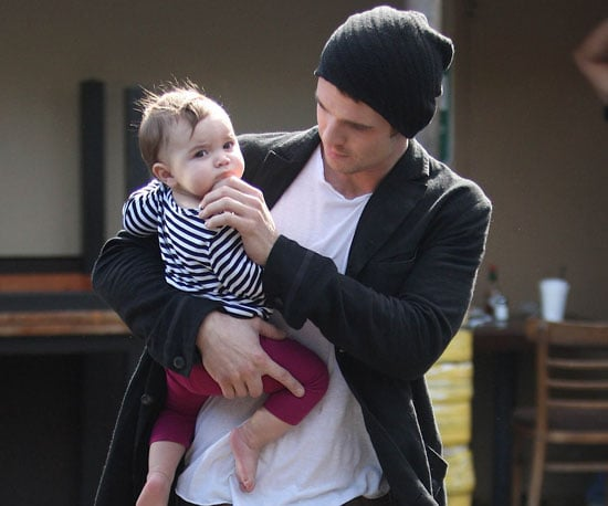 Slide Photo of Cam Gigandet and Everleigh in LA