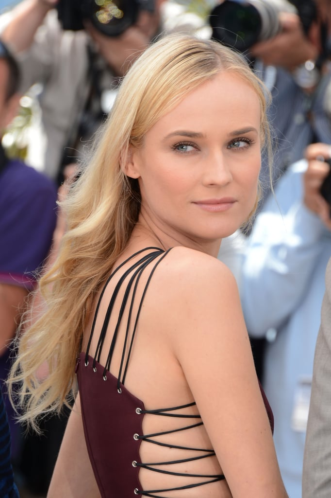 Diane Kruger gave a sexy pose at the jury photocall in Cannes.