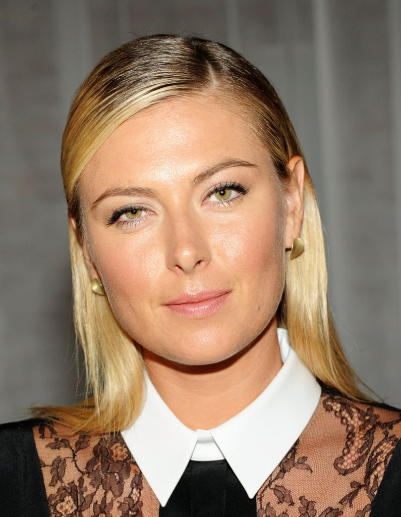 Maria Sharapova's wet, straight hair is right in line with what we're seeing all over the runways.