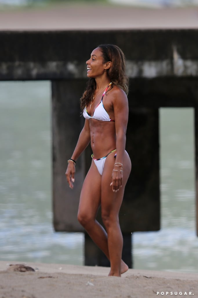 Jada Pinkett Smith donned a bikini in March when she hit the beach in Hawaii.