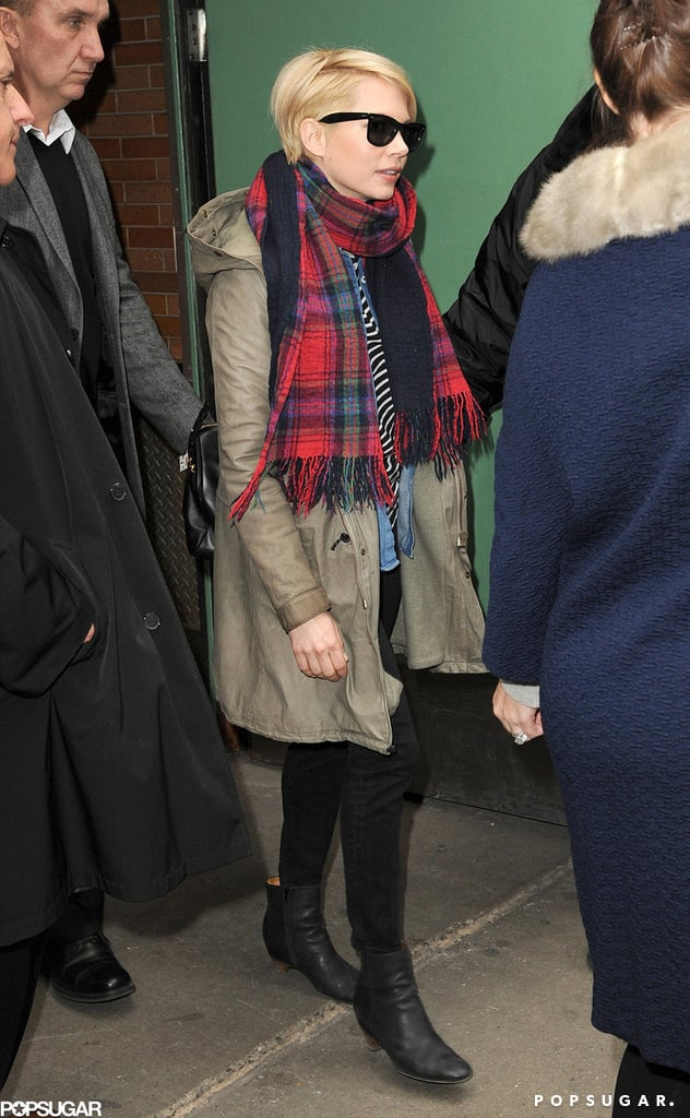 Michelle Williams departed Good Morning America in NYC.