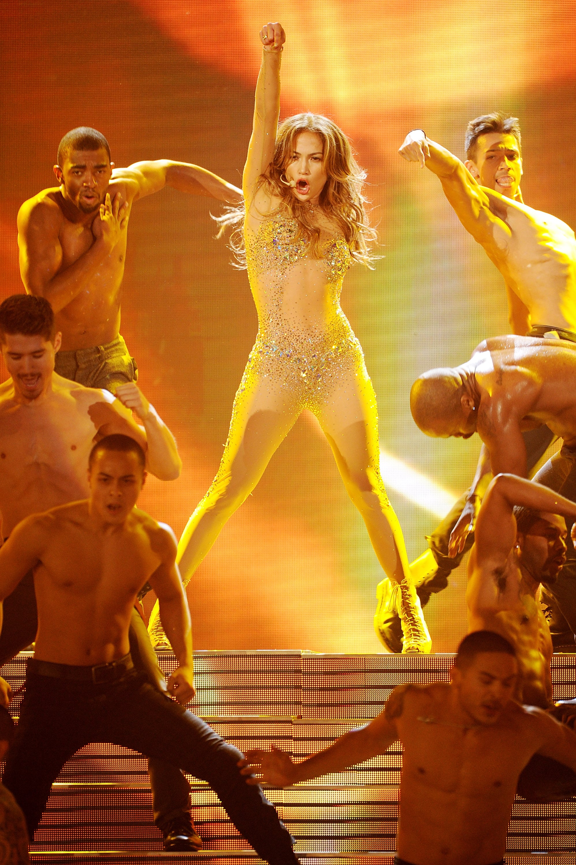 Jennifer Lopez hit the stage in 2011.