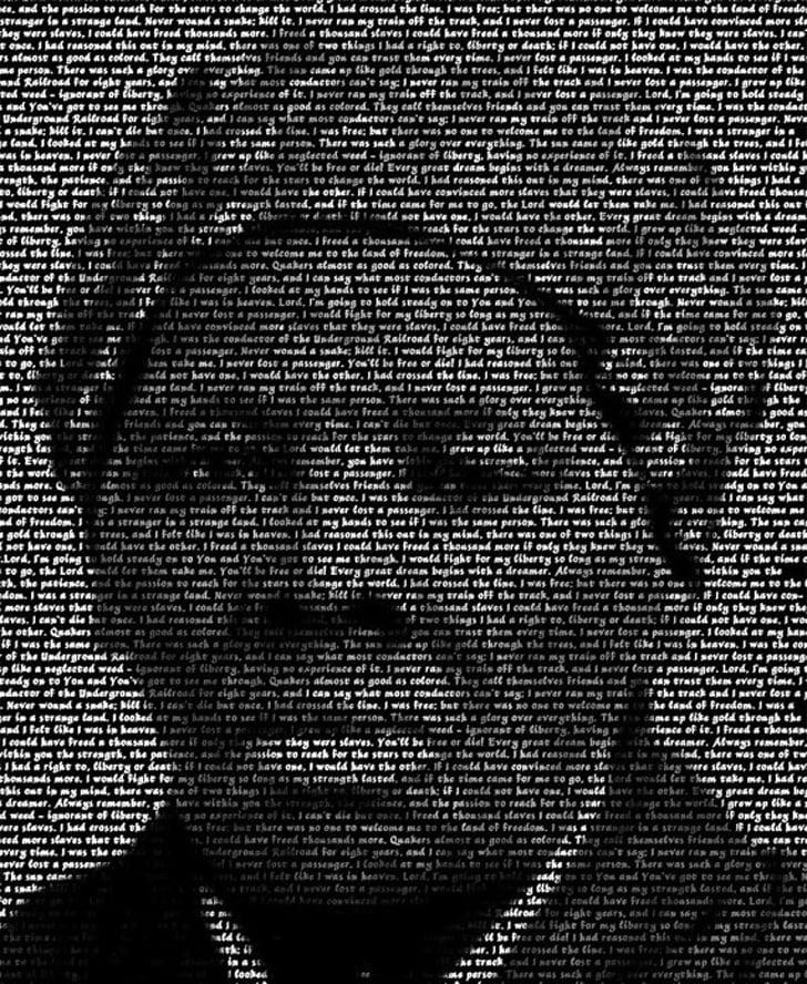 Harriet Tubman Typographical Portrait