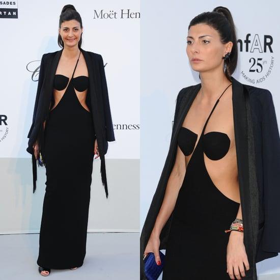 Giovanna Battaglia in Sexy Dress at amfAR Gala