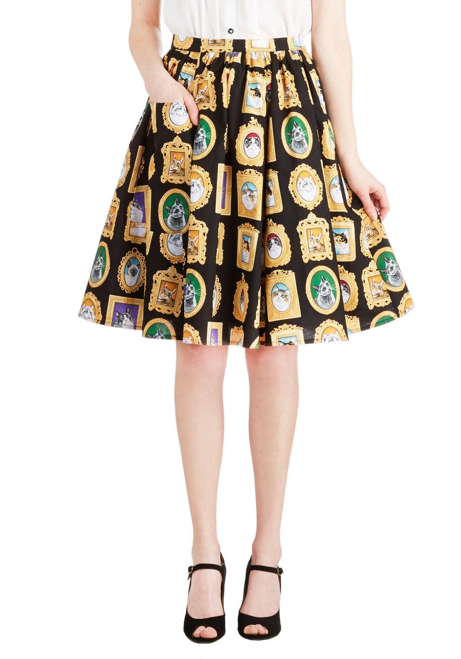 This cat portrait skirt ($60) is plain purrfect.