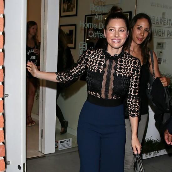 Jessica Biel Night Out in LA August 2015