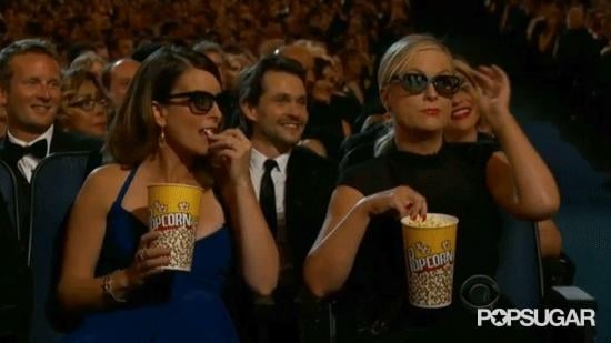 Amy Poehler and Tina Fey mocked Emmys host Neil Patrick Harris at the 2013 Emmy Awards.