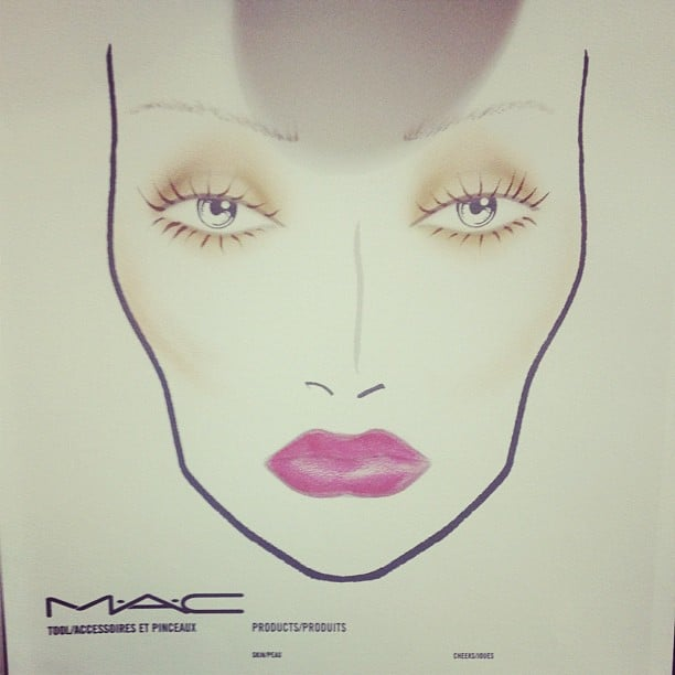 MAC mixed three different lipsticks to get this berry lip hue for Nicole Richie's presentation.