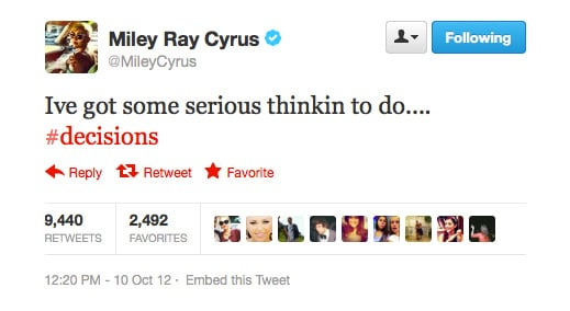 What about, Miley Cyrus?