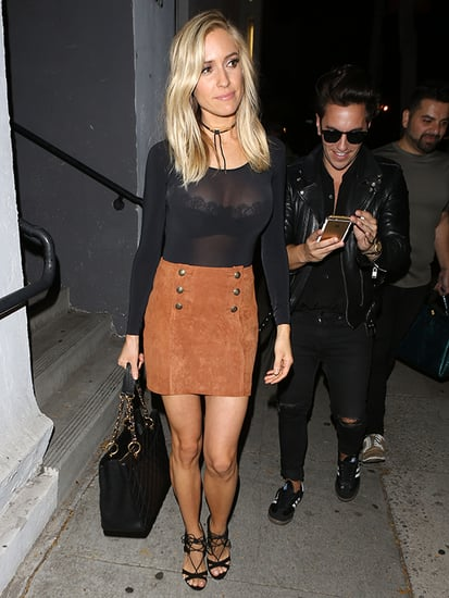 Kristin Cavallari Shows Off 6 Month Post-Baby Physique in a Sheer Top and Mini Skirt