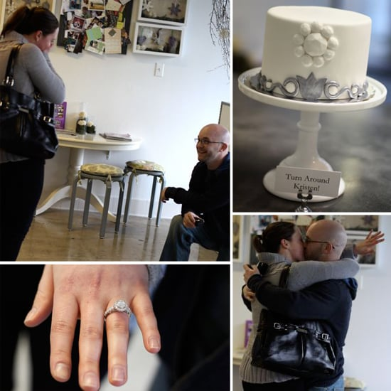 A wedding cake shop got in on the action with this proposal, as Sweet & Saucy Shop created a cake that mimicked the ring this groom would propose with. Source: Sweet & Saucy Shop