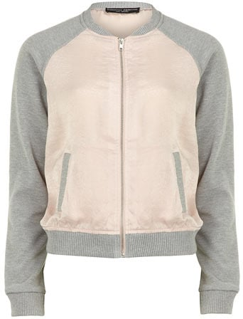 Pink and grey bomber jacket