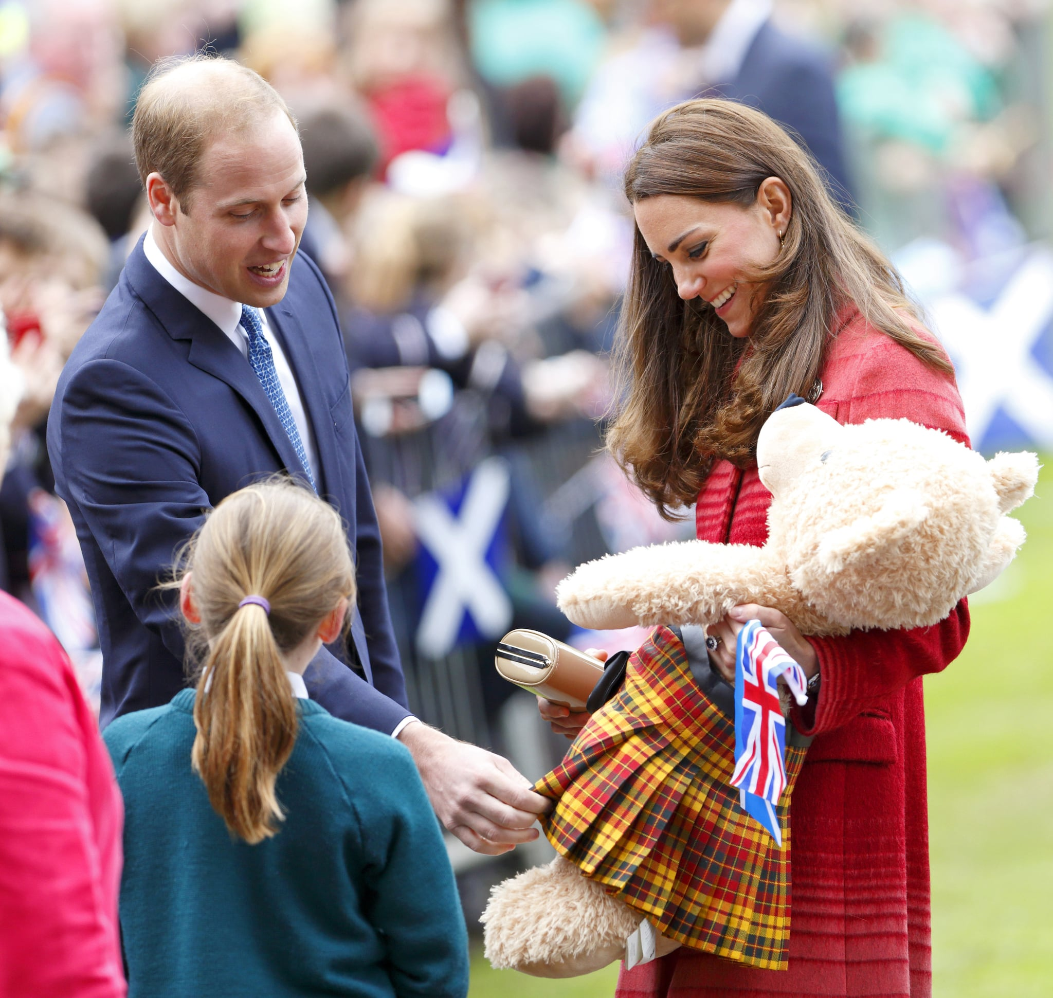 Prince William and Kate accepted gifts during a 2014 visit to Scotland.