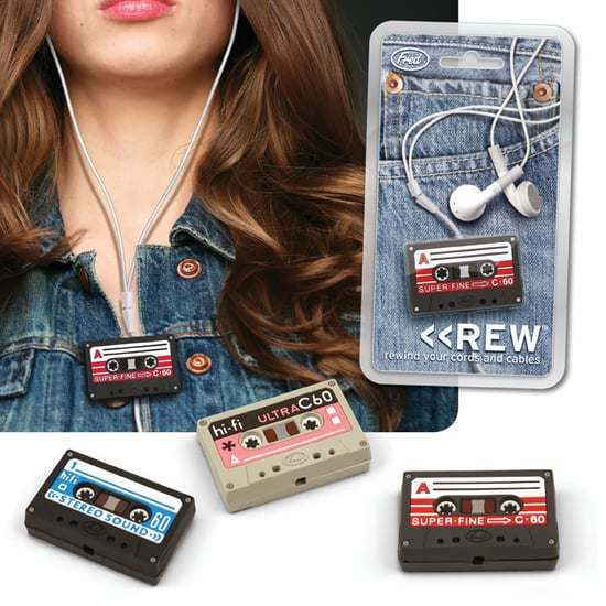 Fred and Friends Rew Earbud Organizer Keeps Cords Untangled