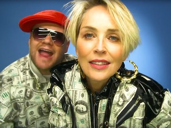 James Corden Wants to Help Sharon Stone 'Get a Man' With Rap Video 'She's Sharon Stone, Bitch'
