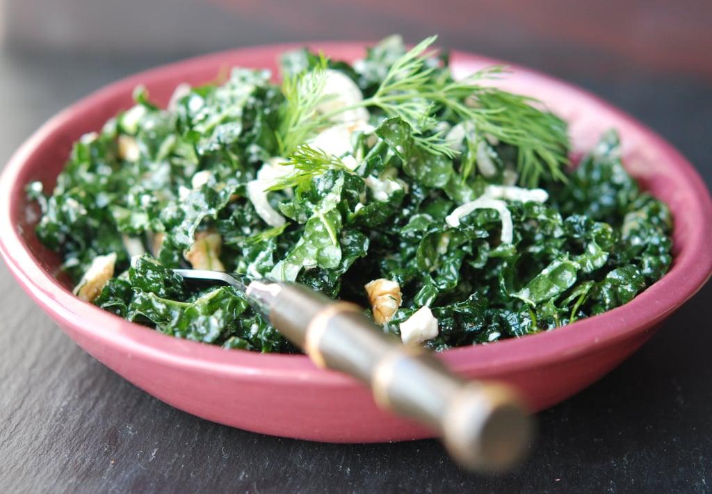 Lemony Kale Salad With Feta