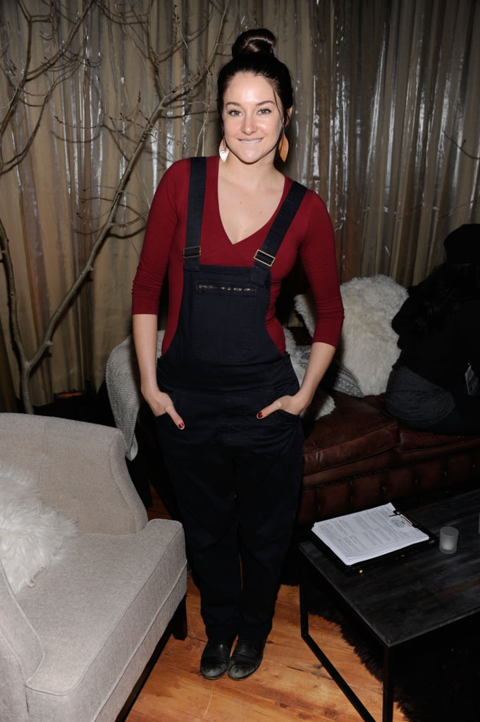 Shailene Woodley isn't afraid to rock a serious pair of long overalls — and this isn't the only time she has been spotted in them at Sundance.