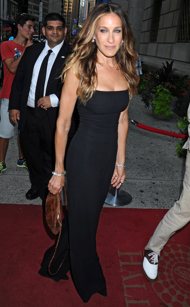 Like always, we pretty much want Sarah Jessica Parker's whole look here. SJP gave us a totally elegant take on the jumpsuit while out in NYC.