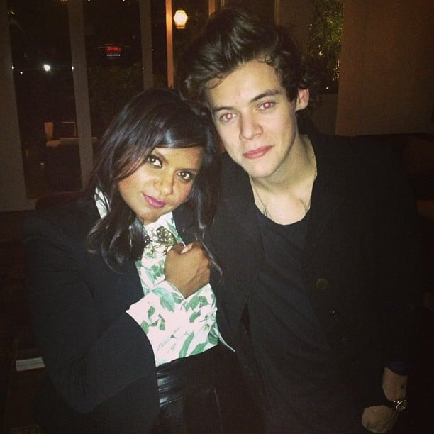Mindy Kaling wanted to prove she met Harry Styles. Source: Instagram user mmindykaling
