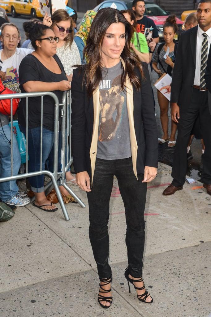 Sandra Bullock Promoting Gravity in New York City