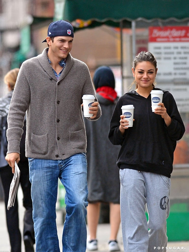 They kept it casual during a coffee run in NYC in October 2012.