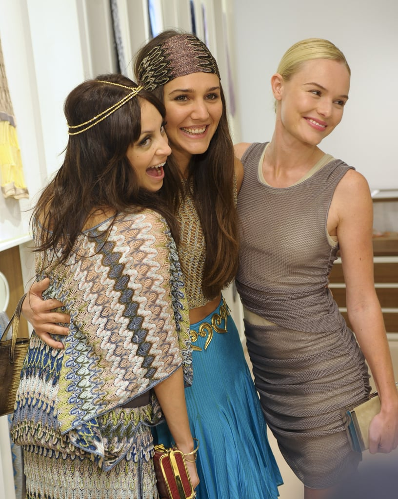 Nicole Richie joked around with Margherita Missoni and Kate Bosworth at Derek Blasberg's Beverly Hills book launch party in May 2010.