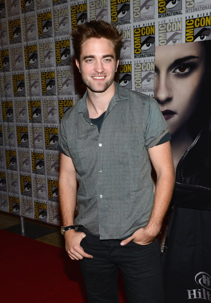 Robert Pattinson talked about Breaking Dawn Part 2 at Comic-Con.