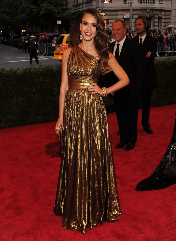 Jessica Alba posed in Michael Kors.