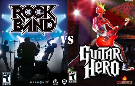 Rock Band Versus Guitar Hero