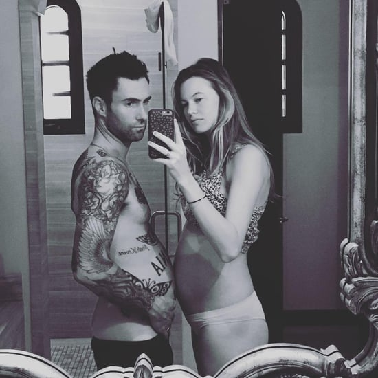 Adam Levine and Behati Prinsloo Baby Bump Instagram Photo