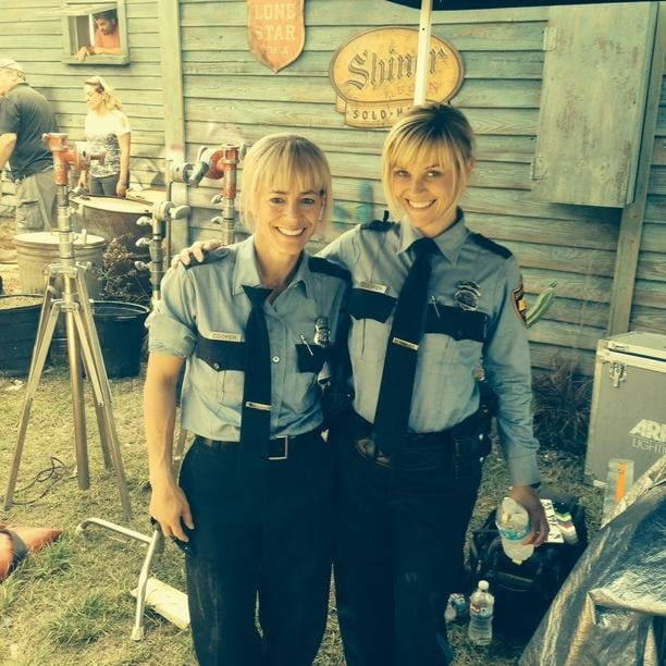 Reese Witherspoon hung out with her stunt double. Source: Instagram user reesewitherspoon